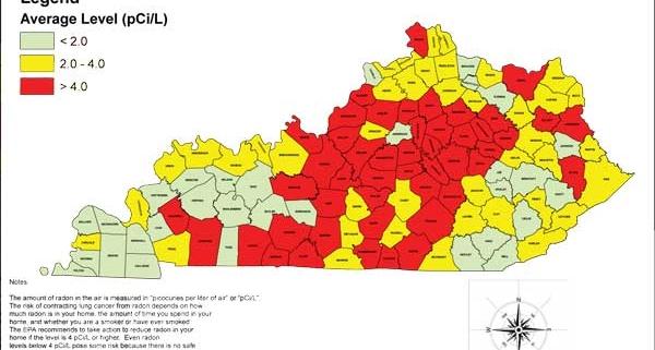 Kentucky Radon Map