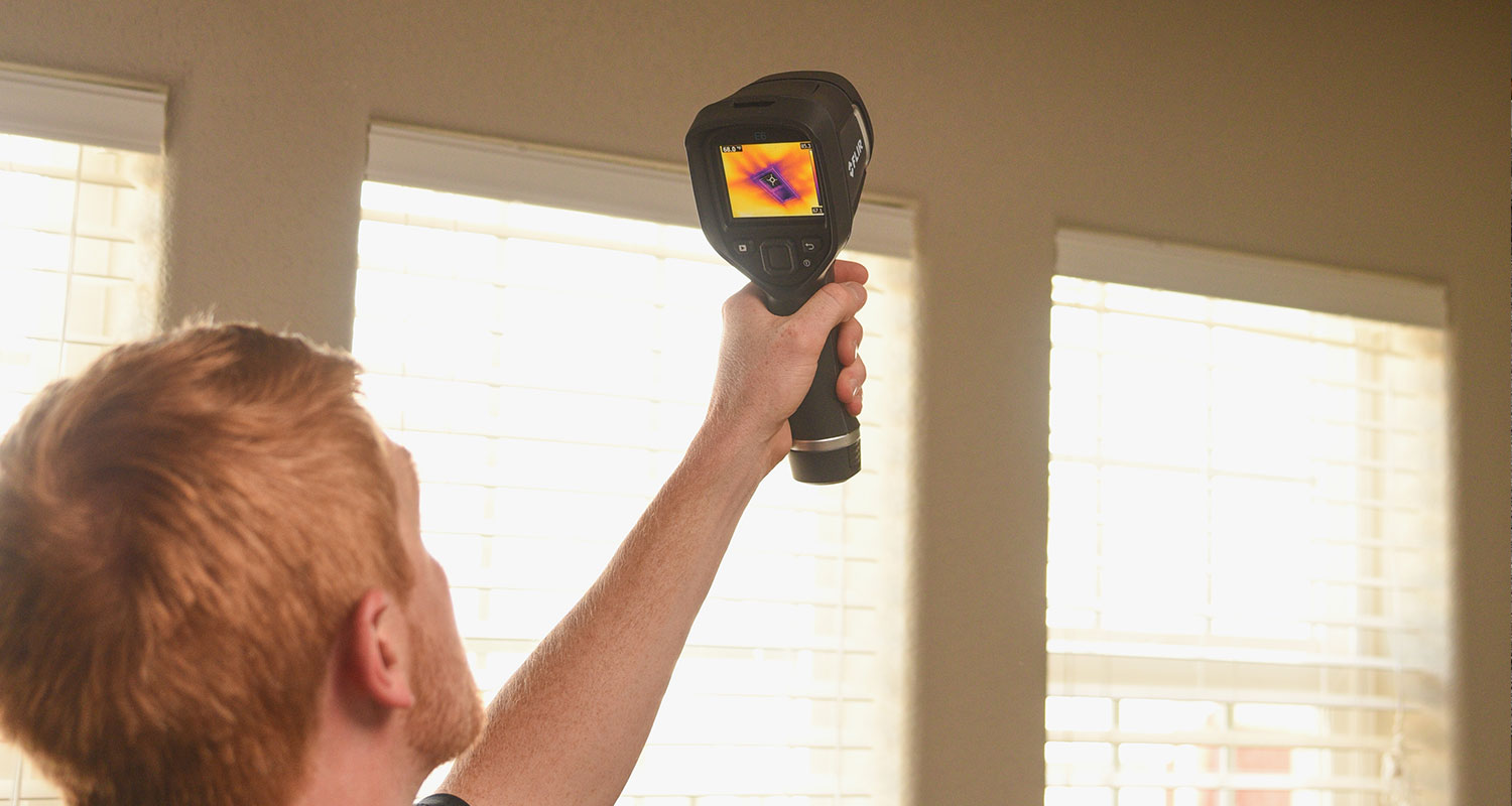 Shawn, doing thermal imagery for a home in Colorado Springs